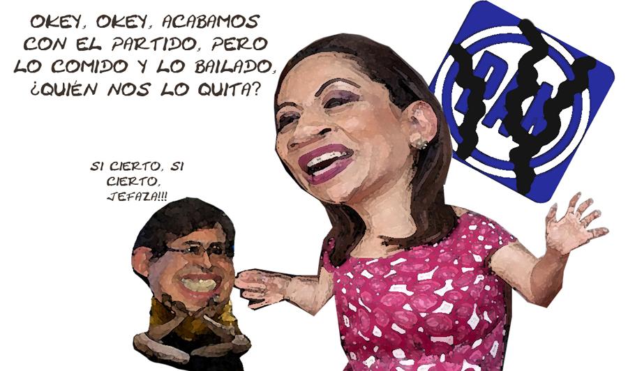 Adriana Davila Acabo Con El Pan, Carlos Carreon, su Peon, Tlaxcala Online Caricatura