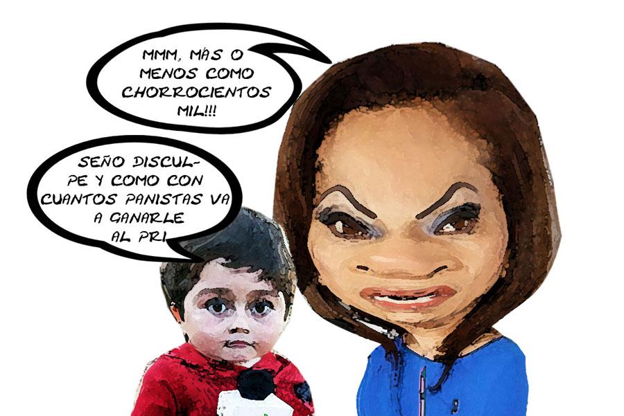 Adriana Davila Fernandez, Cae Su Mentira, Partido Escaso Fracturado Caricatura, Tlaxcala En Linea