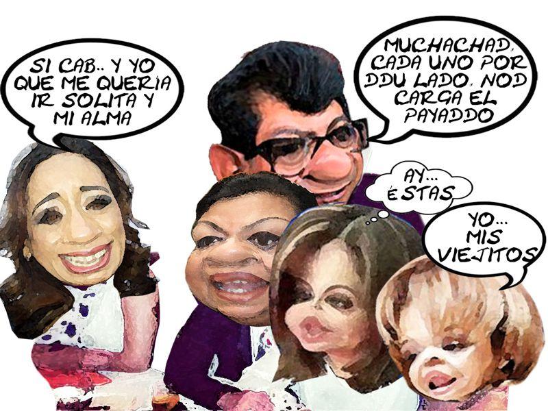 Adriana Davila Fernandez, Caricatura, Aurora Aguilar, Martha Palafox, Lorena Cuellar, Serafin Ortiz, Sucesion, Oposicion, 2016