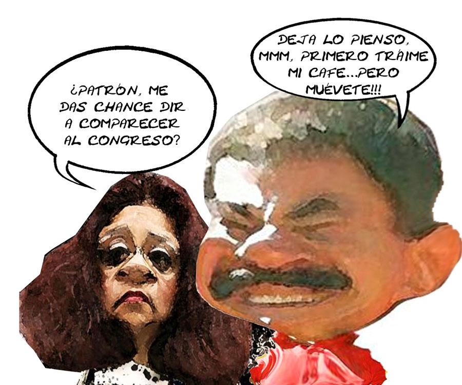 Alicia Fragoso Sanchez, Procuradora, Pide Permiso Gobernador Mariano Gonzalez Zarur, Comparecer Desaparicion karla, Caricatura