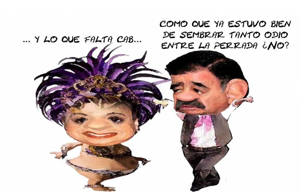 Beatriz Paredes Rangel, Mariano Gonzalez Zarur, Siembran Odio Tlaxcala En Linea Caricatura