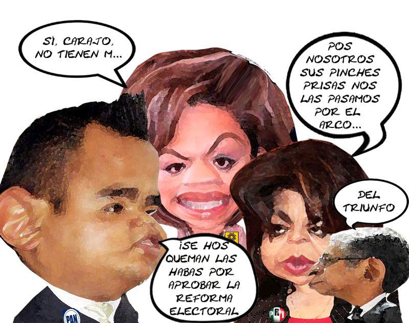 Bloquean Reforma Electoral PRI, Angelica Zarate, Secretario Parlamentario, Erendira Jimenez PRD, Angelo Gutierrez PAN, Tlaxcala Online