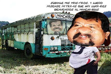 Caicatura 1, Rechazan Maestros Autobuses Gobierno, Ruben Dario Dominguez, Mariano Gonzalez Zarur, Tlaxcala Online