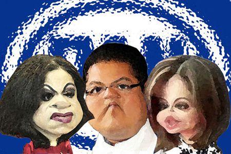 Caricatura 1, Adriana Davila, Damian Mendoza, Aurora Guilar, Dirigencia PAN, Tlaxcala Online