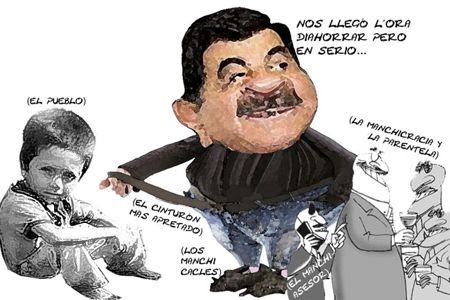 Caricatura 1, Arturo Tecuatl, Apretar Cinturon, Pobreza, Corrupcion, Gabinete, Pueblo, Mariano Gonzalez, Tlaxcala Online