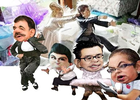 Caricatura 1, Arturo Tecuatl, Boda, Marianito, Ricardo Garcia Portilla, Tepoztlan Gonzalez Aguirre, Zarur, Tlaxcala Online
