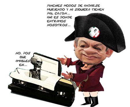 Caricatura 1, Arturo Tecuatl, Cajon Muerto, Ernesto Ordoniez Carrera, Red, PRI, Tlaxcala Online