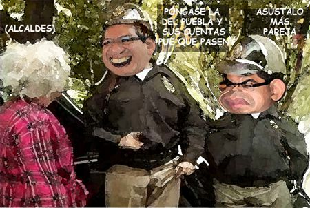 Caricatura 1, Arturo Tecuatl, Comision Fiscalizacion, Corrupcion, Moches, Salvador Mendez Acametitla, Alcaldes, Comic Politico