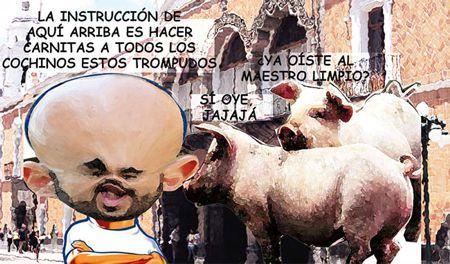 Caricatura 1 Arturo Tecuatl, Corrupcion, Contraloria, Hugo Rene Temoltzin, Tlaxcala Online