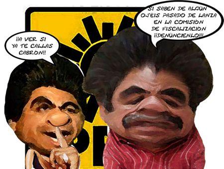 Caricatura 1, Arturo Tecuatl, Denunciar Corrpcion Comision Fiscalizacion, Cristobal Luna PRD, Salvador Mendez Acametitla, Tlaxcala Online