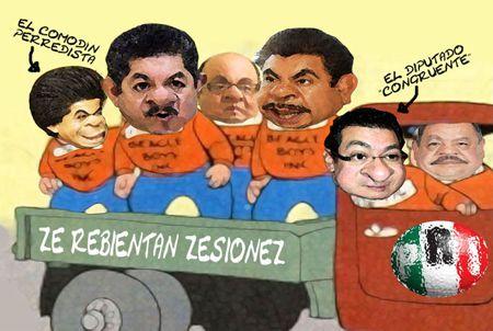 Caricatura 1, Arturo Tecuatl, Diputados PRI, Marco Antonio Mena, Incongruente, Revientan Sesion, Tlaxcala Online