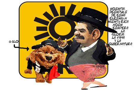 Caricatura 1, Arturo Tecuatl, Eleccion Interna PRD, Cristobal Luna, Ilusion Poder, Tlaxcala Online