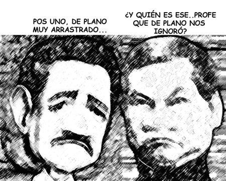 Caricatura 1, Arturo Tecuatl, Emilio Sanchez Piedras, Benito Juarez, Secundaria Tecnica 57 Acuamanala