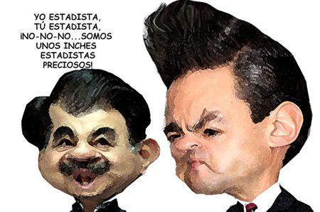 Caricatura 1 Arturo Tecuatl, Mariano Gonzalez, Enrique Penia Nieto, Estadistas, Preciosos, Tlaxcala Online
