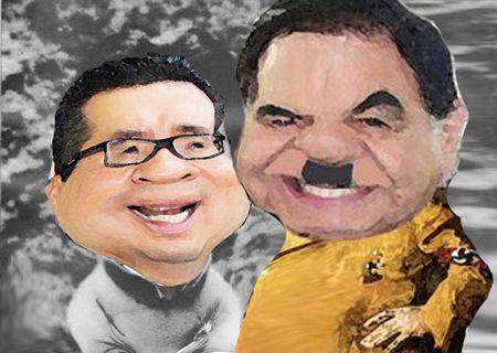 Caricatura 1, Arturo Tecuatl, Mariano Gonzalez Zarur, Ricardo Garcia Portilla, Comunista, Hitler, Comic Politico