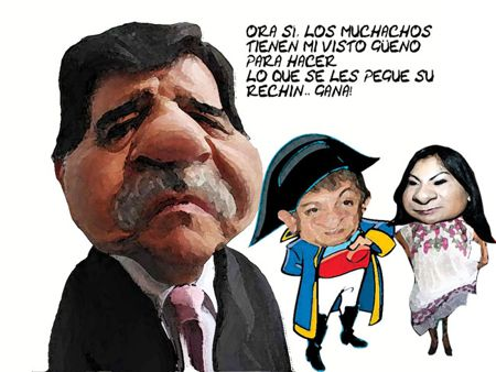 Caricatura 1, Arturo Tecuatl, Operadores Marianismo, Ernesto Ordoniez, Maricela Cuapio, Mariano Gonzalez, PRI, Tlaxcala Onlline