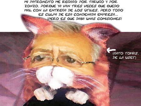 Caricatura 1, Arturo Tecuatl, USET, Retraso Utiles Escolares, Comisiones, Tomas Munive, Tlaxcala Online