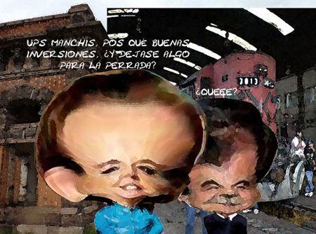 Caricatura 1, Claudia Ruiz Massieu, Mariano Gonzalez, Turismo, Santa Agueda, Apizaco, Antigua Estacion, Tlaxcala Online