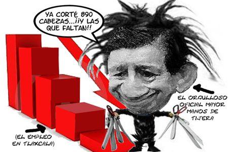 Caricatura 1, Desempleo, Oficial Mayor, Ubaldo Velasco Hernandez, Tlaxcala Online