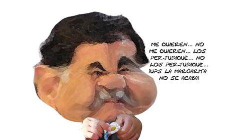 Caricatura 1, Deshojando Margarita, Gobierno, Mariano Gonzalez Zarur, Tlaxcala Online