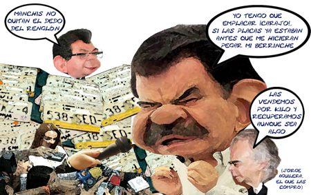 Caricatura 1, Emplacamiento, Necedad, Mariano Gonzalez Zarur, Jorge Valdez Aguilera, Serafin Ortiz, Tlaxcala Online