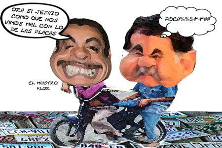 Caricatura 1, Florentino Dominguez Critica Emplacamiento PRI, Mariano Gonzalez, Placas, Diputado, Profe, Tlaxcala Online