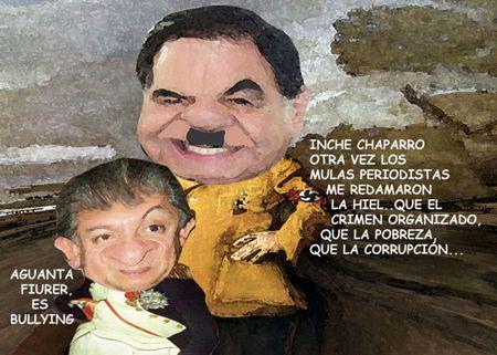 Caricatura 1 Hitler, Mariano Gonzalez Zarur, Napoleon, Ernesto Ordoniez Carrera, Inseguridad, Tlaxcala Online