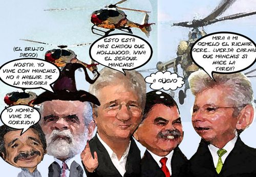 Caricatura 1, Informe Mariano Gonzalez Zarur, Diego Fernandez Ceballos, Gerardo Ruiz Esparza, Richard Gere, Tlaxcala Online