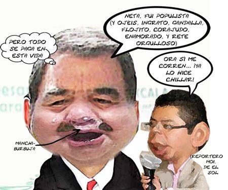 Caricatura 1, Llora Gobernador Entrevista Sol, Mariano Gonzalez Zarur, Moises, Populista,Tlaxcala Online