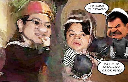 Caricatura 1, Marco Antonio Mena Rodriguez Quico, Santiago Sesin Maldonado Chavo, Mariano Gonzalez Zarur Don Ramon, Tlaxcala Online