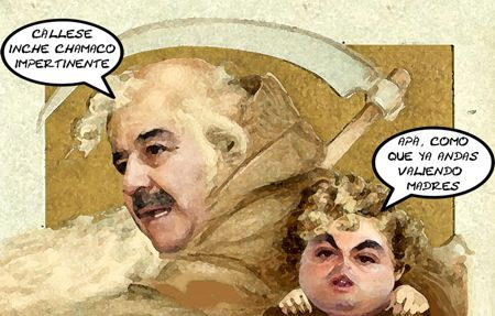 Caricatura 1, Mariano Gonzalez Aguirre, Zarur, Anio Nuevo, Viejo, Tlaxcala Online