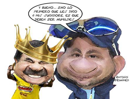 Caricatura 1, Mariano Gonzalez Zarur, Entrenador Antonio Mohamed America, Eqjuipo Futbol Tlaxcala Online