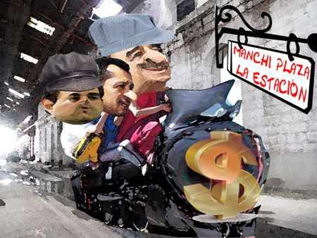 Caricatura 1, Plaza Antigua Estacion, Apizaco, Ferrocarril, Mariano Gonzalez, Orlando Santacruz, Tlaxcala Online