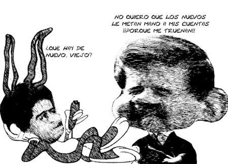 Caricatura 1, Revisen Mismos Diputados Cuentas Ejecutivo, Salvador Mendez Acametitla, Mariano Gonzalez Zarur, Tlaxcala Online