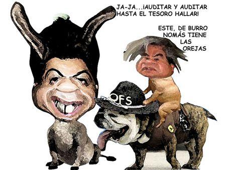 Caricatura 1, Salvador Mendez Acametitla, Crispin Corona, Corrupcion, Auditorias, OFS, Tlaxcala Online