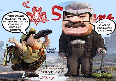 Caricatura 1, Samborns Placas Defectuosas Fraudulentas, Secte, Mariano Gonzalez Zarur, Medios Tlaxcala Online