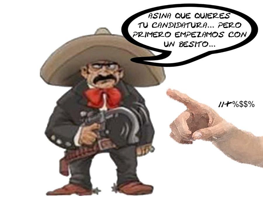 Caricatura, Acosador, No Cumplen Partidos Equidad, Tlaxcala En Linea