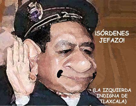 Caricatura, Arturo Tecuatl, Asencion Calyeca, Subordinado, Ejecutivo, Indigno, Izquierda, Comic Politico