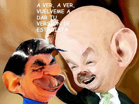 Caricatura, Arturo Tecuatl, Carlos Salinas, Mariano Gonzalez, Estadista, Gracioso, El Comic Politico