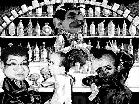 Caricatura, Arturo Tecuatl, Congreso, Simulacion, Mariano Gonzalez Zarur, Marco Antonio Mena, Humberto Macias, El Comic Politico