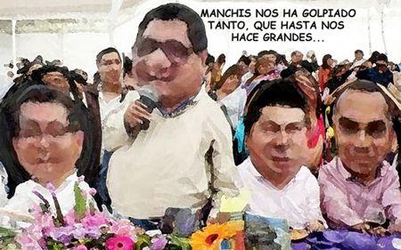 Caricatura, Arturo Tecuatl, La Finca, Hector Ortiz, Serafin, Adolfo Escobar, Victor Job Paredes, Rector, Tlaxcala Online