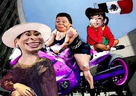 Caricatura, Arturo Tecuatl, Senadoras, Lorena Cuellar, Martha Palafox, Adriana Davila, El Comic Politico