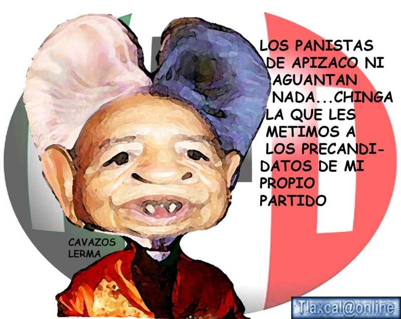 Caricatura Manuel Cavazos Lerma, PRI, Delegado CEN, Burla, Apizaco, Tlaxcala Online