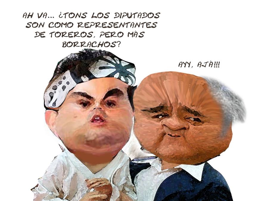 Caricatura Marianito Gonzalez Aguirre, Hector Ortiz, Karate Kid, Diputados Nueva Legislatura Tlaxcala Online
