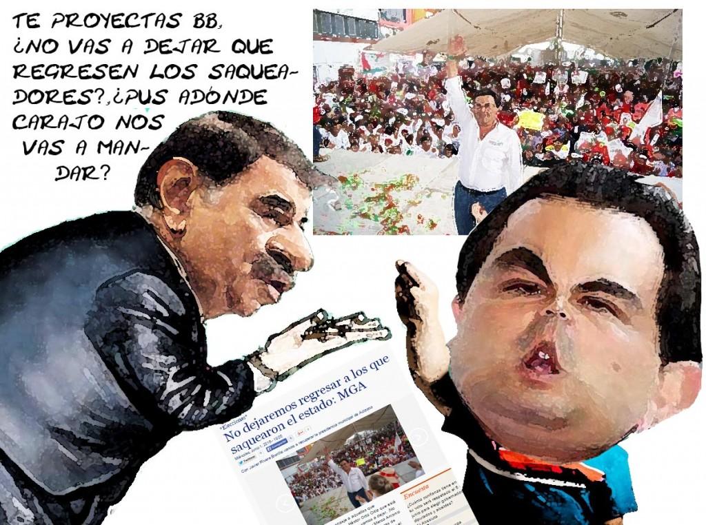 Caricatura Marianito Gonzalez Aguirre Se Proyecta Queriendo Echar a los Saqueadores, Tlaxcala Online