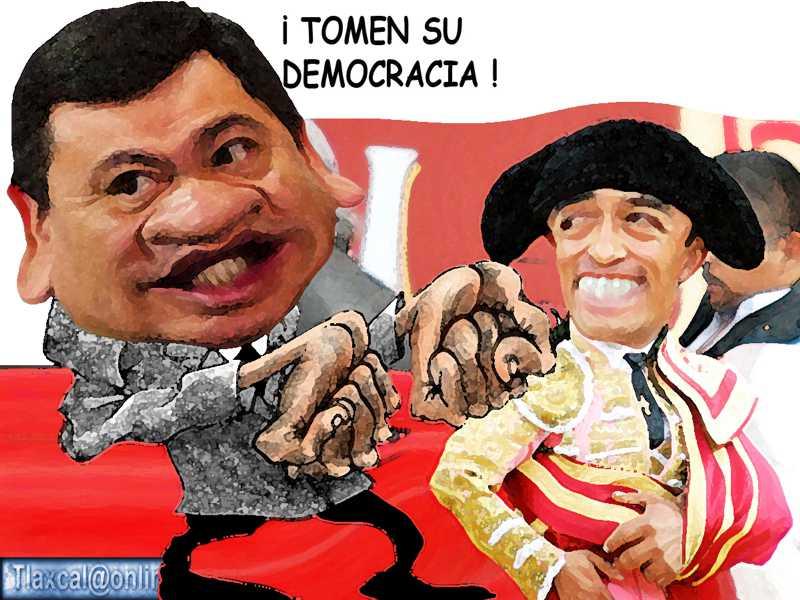 Caricatura, Miguel Angel Osorio Chong, Gobernacion, Trampa, Fraude, Apizaco, Rafael Ortega, PRI, Tlaxcala Online