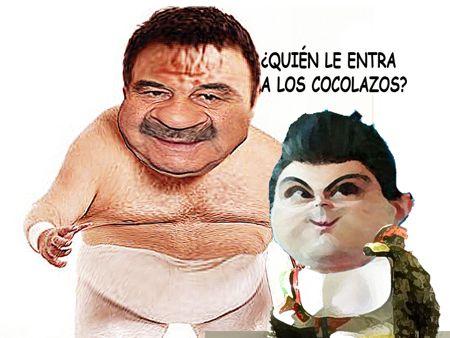 Caricatura, Super Porky, Mascarita Sagrada, Version Tlaxcala, Comic Politico