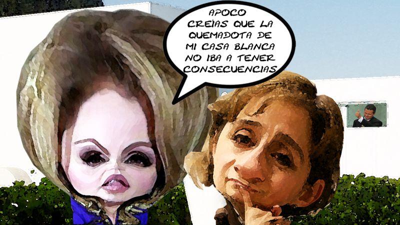 Casa Blanca Despiden Carmen Aristegui, Angelica Rivera, Enrique Penia Nieto, Tlaxcala Online
