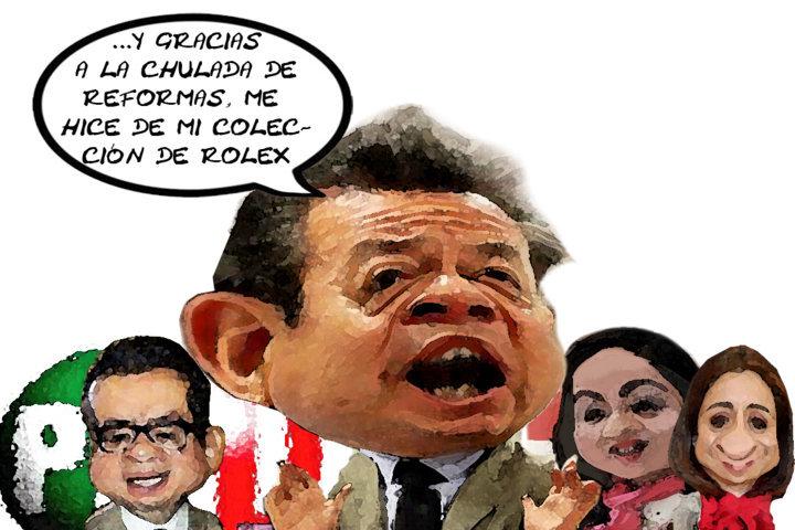 Cesar Camacho Quiroz, Rolex, Gira Zacatelco, Apoyo Candiatos PRI Diputados, Tlaxcala Online (Econsulta)
