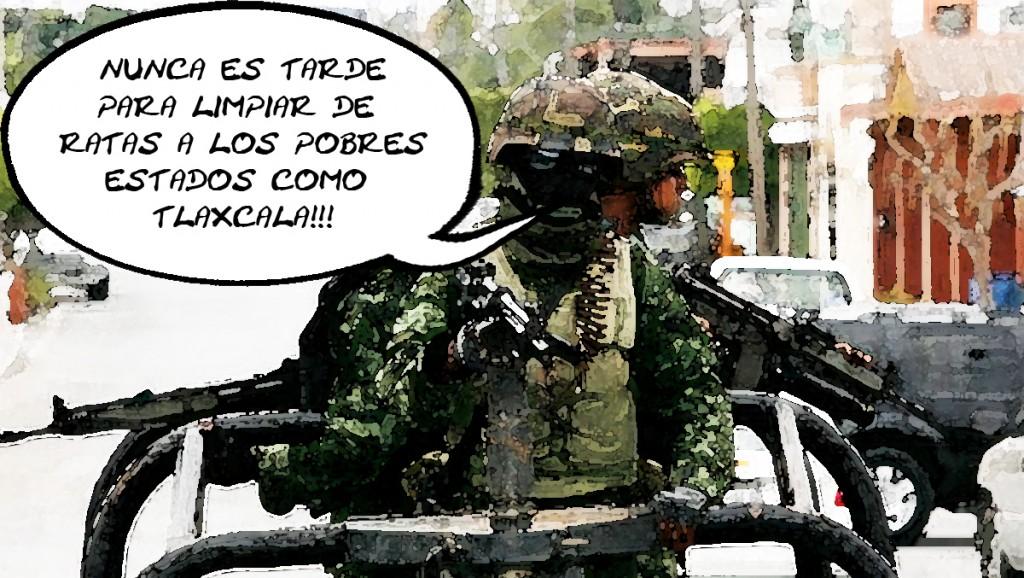 Ejercito Mexicano Limpia Ratas en Tlaxcala Online